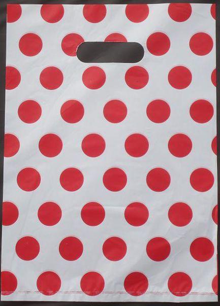 100pcs/lot Free shipping Colorful red dots Plastic <font><b>bags</b></font> 30*40cm Wholesale Carrier <font><b>bags</b></font> Packing <font><b>shopping</b></font> <font><b>bags</b></font> 015040053