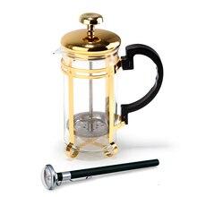 350 мл французский пресс стеклянная кофейная чашка с фильтром с термометром
