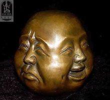 Décoration En Laiton Rare chinois tibet laiton 4 faces bouddha tête statue  JINHONGBO 5 cm Chinois 226f1c87ad6
