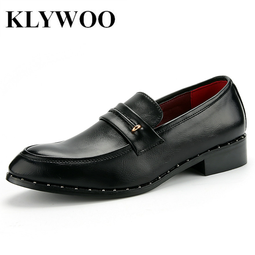 KLYWOO 2017 New Arrival Shoes Men Business Casual Leather Shoes Men Oxfords Classic Black Dress Wedding Shoes Brand Zapatos