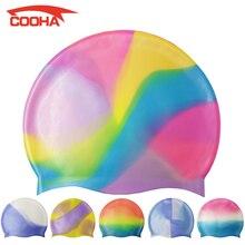 Professional Waterproof Adolescent Silica Gel Swimming Cap Men Women Hair Care Silicone Swim Cap Children Swimming Pool Hat