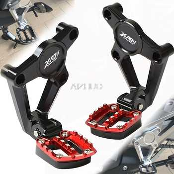 For HONDA X ADV XADV X-ADV 750 XADV750 2017 2018 Motorcycle Accessories Folding Rear Foot Pegs Footrest Passenger Rear foot Set - DISCOUNT ITEM  15% OFF All Category