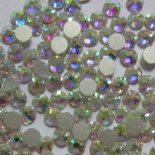 SS3-SS50 Non Hotfix Glass Rhinestones Crystal Clear and White AB For 3D Nail Art Decoration Flatback Strass Stone Wholesale