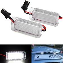2 шт. без ошибок светодиодный номерной знак светильник OEM Замена сборки лампы для Jaguar XF X250 XJ X351