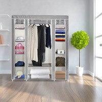 Durable 210D Oxford Fabric Storage Clothes Closet Sturdy DIY Assambled Organizer Wardrobe Household E2S