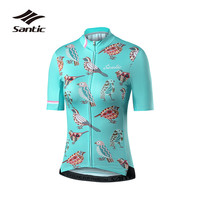 Santic Cycling Jersey Summer Professional Breathable Quick Dry Road Mountain Bike Jersey Women Short Sleeve Bicycle Jersey