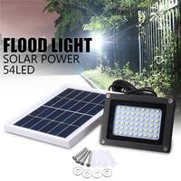 Солнечные мощные прожекторы 54LED Темный Датчик солнечной лампы ручной и световой контроль прожекторы водонепроницаемые наружные аварийные ...