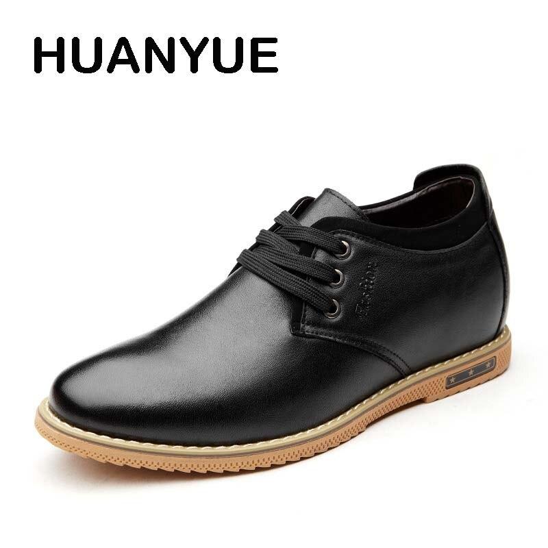 Lacets automne Black Plat De Cuir Casual À En Zapatos Printemps Hommes Hombres D'affaires Respirant 2018 Chaussures brown Pour wx5BFqaz