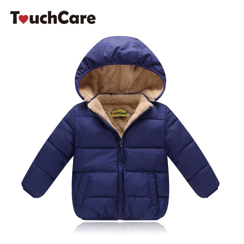 TouchCare Boys Winter Cotton Velvet Jacket Kids Girls Padded Fleece Outerwear Coat Children Tops Clothes Chaqueta para ninos children winter coats jacket baby boys warm outerwear thickening outdoors kids snow proof coat parkas cotton padded clothes