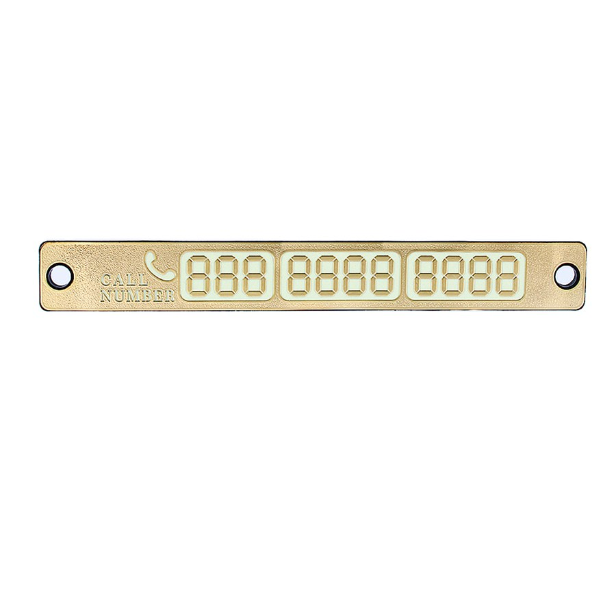 B35 Universal Silver/Gold 15*2cm Temporary Car Parking Card Magnetic Phone Number Card Plate Sucker Car Sticker 2016