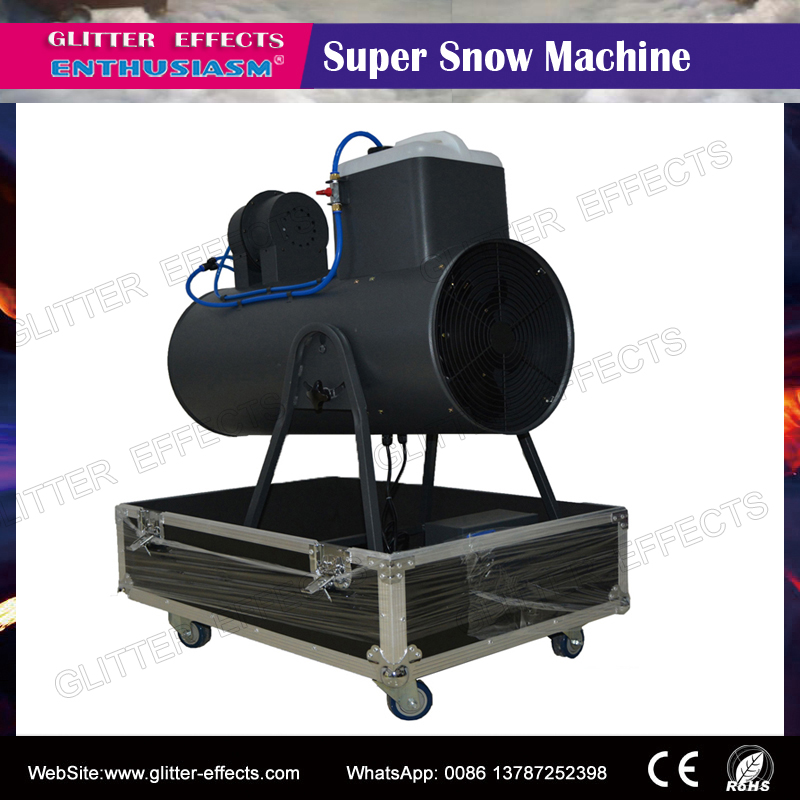 2000W Super Big Snow Machine with flightcase packing Manual Control snowstorm making machine for Christmas stage dj club snowstorm pro