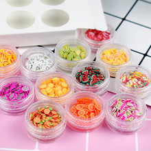 Clay SLICED Fruit Filling Polymer Clay Fruit Mold to Make Jewelry Sew Nail Art Tips Children Lizun Accessories DIY Other Tools