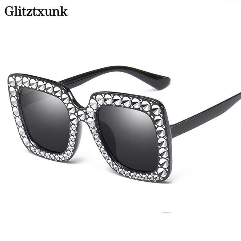 cf70c2b18d Glitztxunk 2018 de las gafas de sol de la marca CRISTAL espejo Retro  completo estrella gafas de sol negro gafas UV400 - a.spelacasino.me