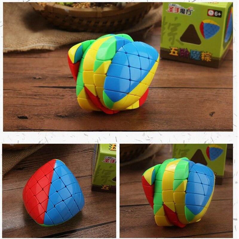 Neue Ankunft von Shengshou Mastermorphix 5x5x5 Cube Reis Knödel Zauberwürfel Stickerless Geschwindigkeit Puzzle Cube Spielzeug