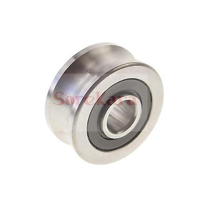 16*48*21mm U Groove width 16.5mm stainless Guide Pulley Sheave Rail Bearing 1 piece bu3328 6 6 33 27 5 29 5 mm z25 guide rail u groove plastic roller embedded dual bearing