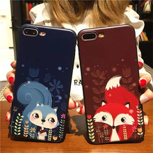 Rabbit Fox Phone Cases Cover For iPhone 6 6S 7 7Plus 5 5S SE 3D Cartoon Cute Soft Silicone TPU Case Funda for iPhone 6 6s 7 plus