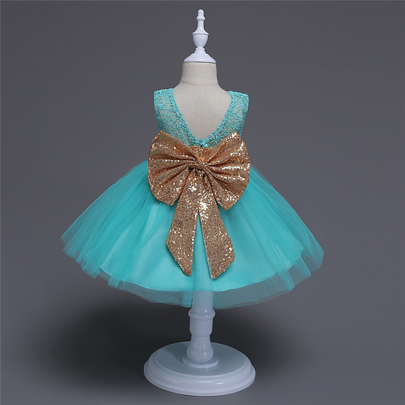 Children Mint Green White Rose Pink Summer Sleeveless Sequin Dress Kids Infant Outfits Princess Party Tutu Dresses with Sash ebtb pluto mint green