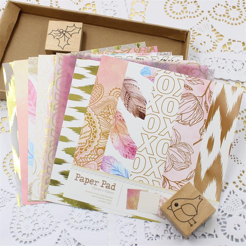 YPP CRAFT Lovely Series Material Paper Set For Scrapbooking DIY Projects/Photo Album/Card Making Crafts