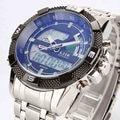 Nuevos relojes de marca de lujo 6.11 reloj hombre militar del ejército del cuarzo de los hombres led digital deportivo reloj de pulsera relogio masculino