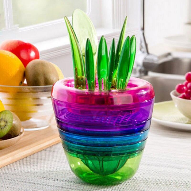 10pcs Stainless Steel Flowerpot Type Fruit Slicer For Kiwifruit Cutting Device Orange Peeler Apple Shredders Kitchen Tools