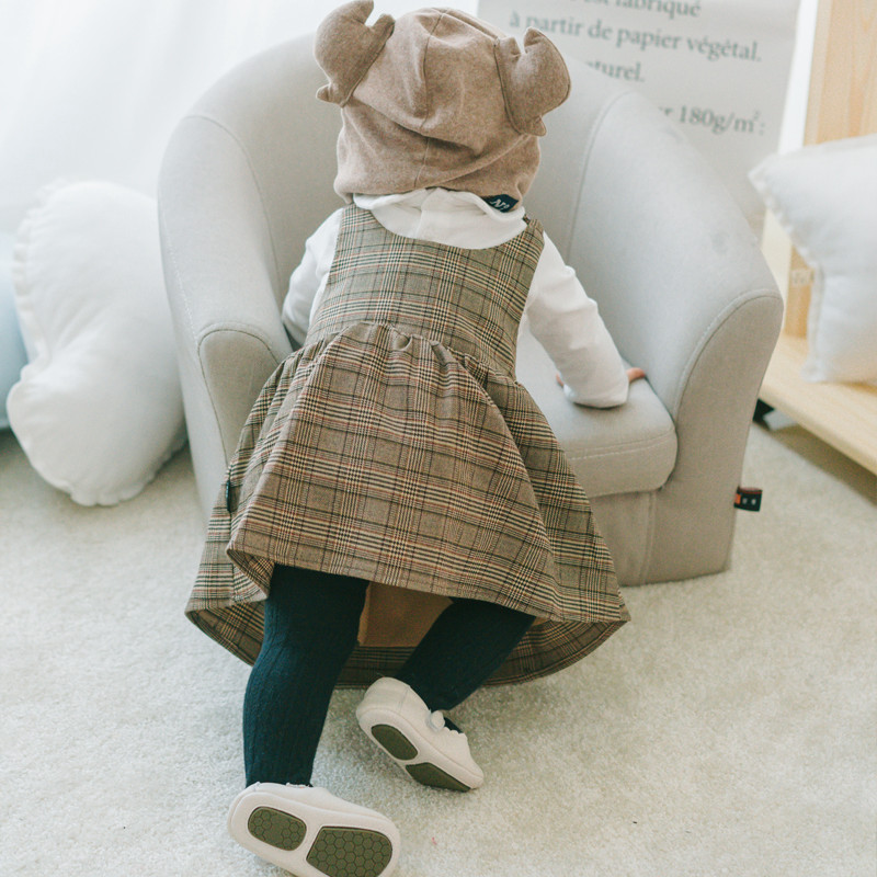 Plaid dress for baby casual a-line cotton baby clothes 1 years birthday party costumes toddler girls clothing kids infant dress