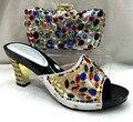 Mujeres de la manera Zapatos Y Bolsos A Juego Italiano de Zapatos Con Bolso A Juego Fijado Para la Fiesta de Boda de la Alta Calidad Sandalia TH08