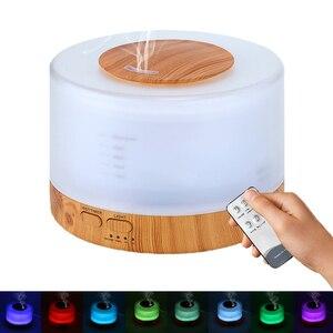 Image 4 - 500 مللي الروائح معطر الهواء المرطب مع LED ضوء الليل لغرفة المنزل بالموجات فوق الصوتية كول ميست زيت عطري الناشر