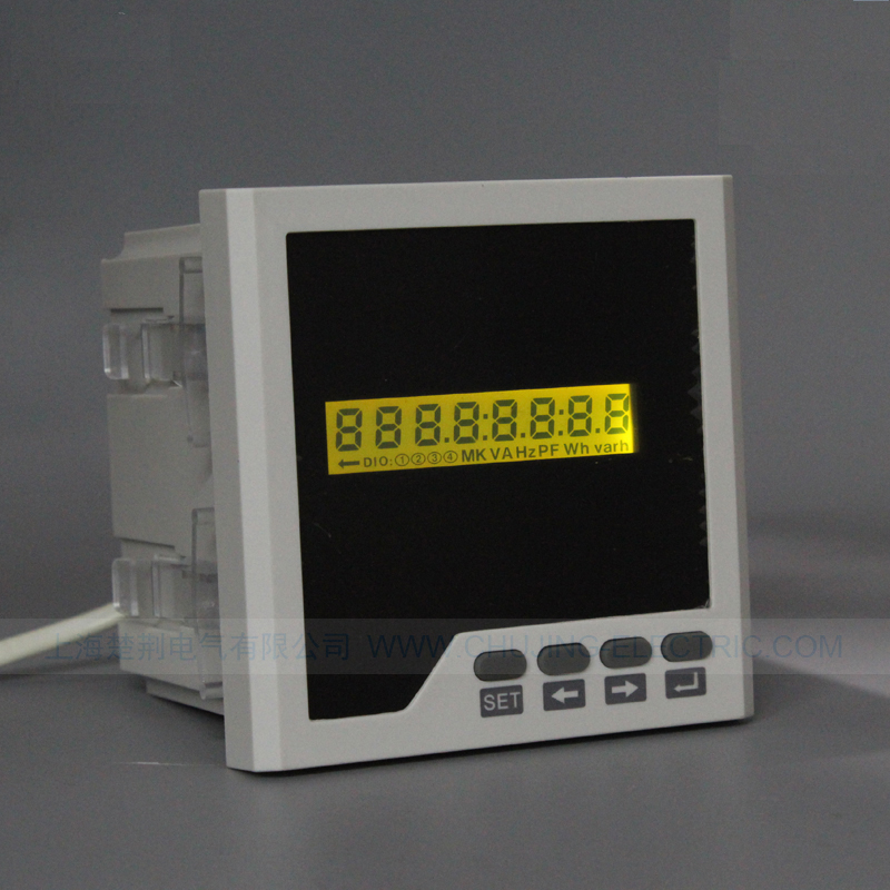 Single phase Multi-function power Meter LCD AC 0-450V A V Hz W KWH PF cos panel meter with 2 relay alarm output and RS485 цена