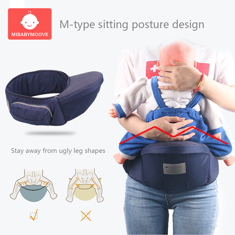 Ergonomic Baby Hip Seat Carrier Waist Stool Walkers Toddler Sling Hold Waist Belt Adjustable Front Carry Hipseat Baby Waist Seat