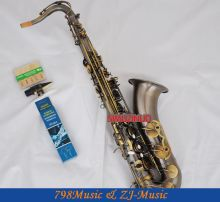 Professional Antique Brass Tenor Saxophone Bb Sax High F# With 10pc Reeds Case