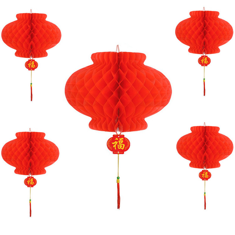 6pcs Navidad Paper Chinese Style New Year Lanterns Christmas Decorations For Home New Year 2019 Decor Xmas Ornaments Lanterns