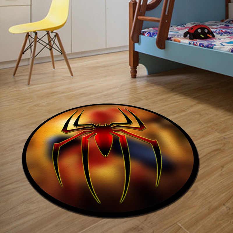 Бэтмен круглый ковер диаметр 60/80/100/120/160 см салон коврики для ванной коврики для гостиной домашний Декор Детский ковер tapete