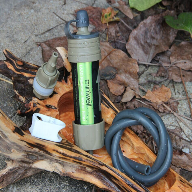 Outdoor hiking camping water filter for filtering water in emergency