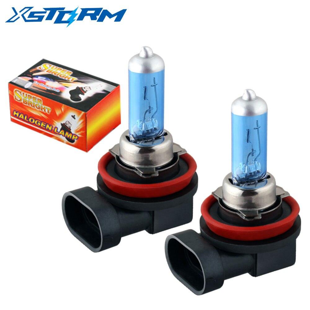 2 шт., супер белые галогенные лампы H11 100 вт для автомобиля, противотуманные фары s, высокая мощность, фонасветильник s, лампа для автомобисвети...