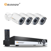 EINNOV Plug And Play Security Camera CCTV System 4ch 1080P POE NVR Kit 4pcs With Audio