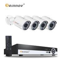 EINNOV Plug And Play Security Camera CCTV System 4ch 1080P POE NVR Kit 4pcs With Audio