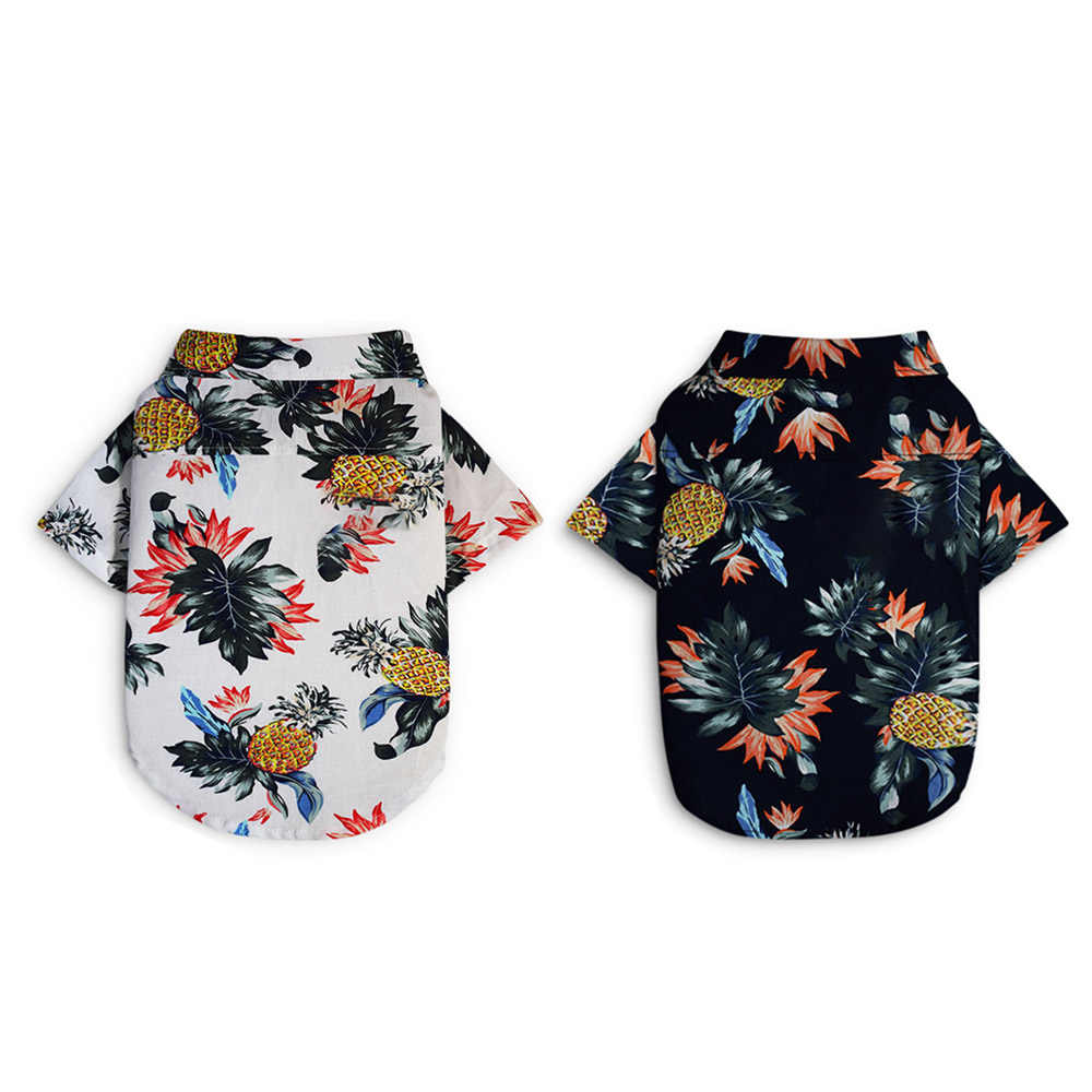 Summer Dog Clothes Hawaii Shirt Beach Vest Pet Clothing For Small Medium Dogs Shiba French Bulldog Chihuahua Puppy Outfit