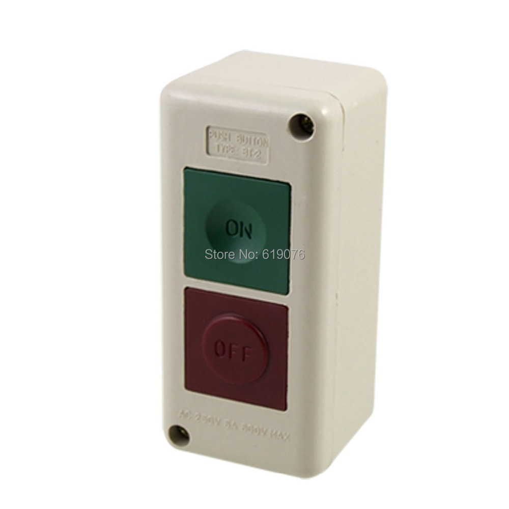 Electric Motor Momentary ON OFF Push Button Control Station 250V keylock rotary on off switch green push button station