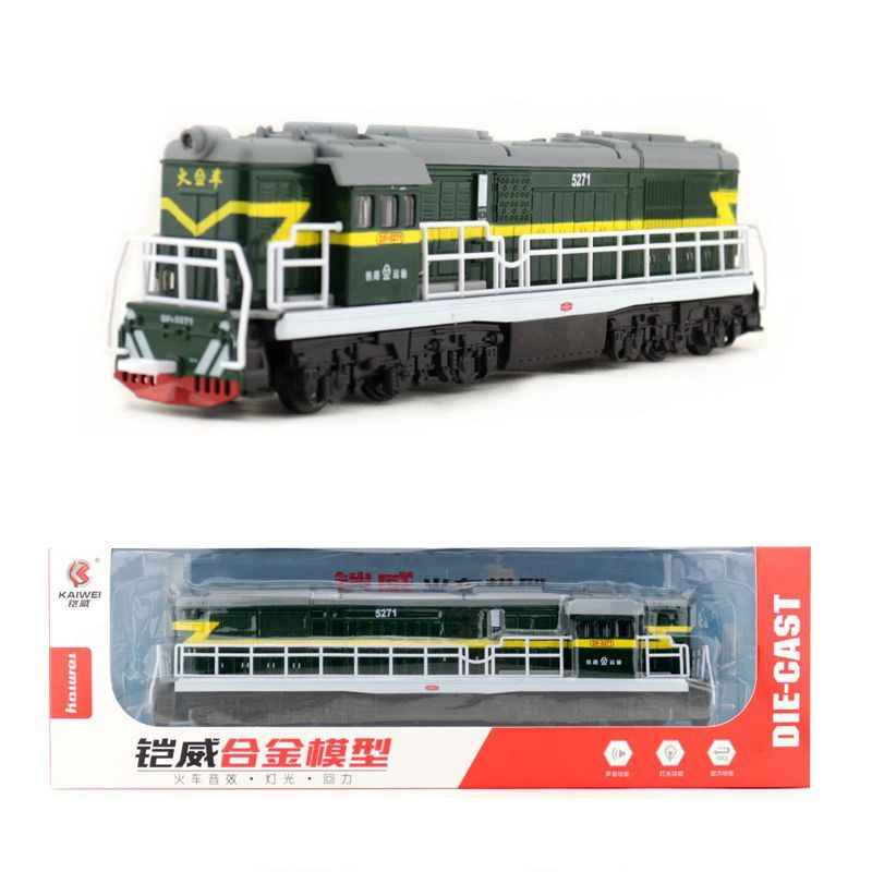 Free Shipping/Diecast Toy Model/China Classical DongFeng 5271 Locomotive Train/Pull Back/Sound & Light Car/Classical