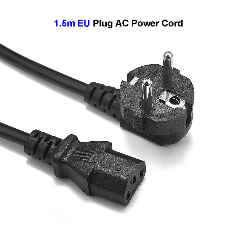 EU European Power Cable Euro EU Plug IEC C13 Power Supply Lead Cord 1.5m 5ft For Desktop PC Computer Monitor Printer AC Adapters peavey 15 v ac power supply euro plug