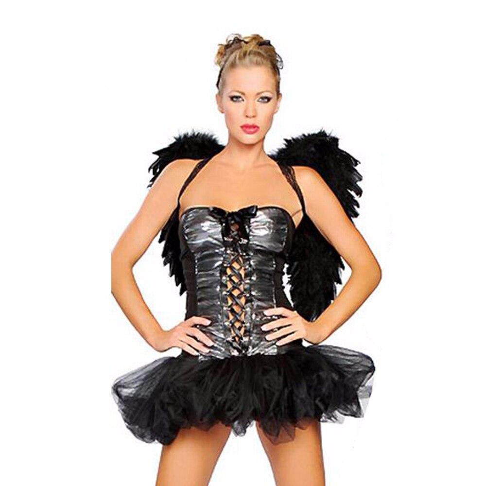 Hot Fashion Black Angle Costume Fairy Costume Cheap Black Angle Costume New Angle Clothing with Wings Angle Dress