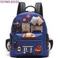 FLYING BIRDS женщины рюкзак школьные сумки кожа ежедневно рюкзак женская сумка хорошее качество студент mochila рюкзак LM3200fb