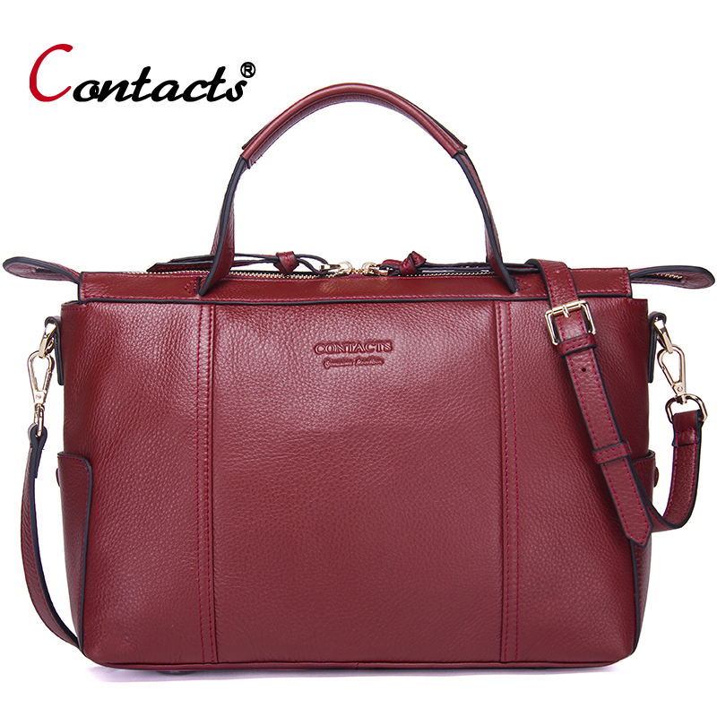 Contact's Brand Luxury Handbags Women Bags Designer Female Shoulder Bag Genuine Leather Crossbody Bags For Women Messenger Bags luyo real genuine leather handbags luxury brand handbags women bags designer female crossbody bags for women 2018 shoulder bag