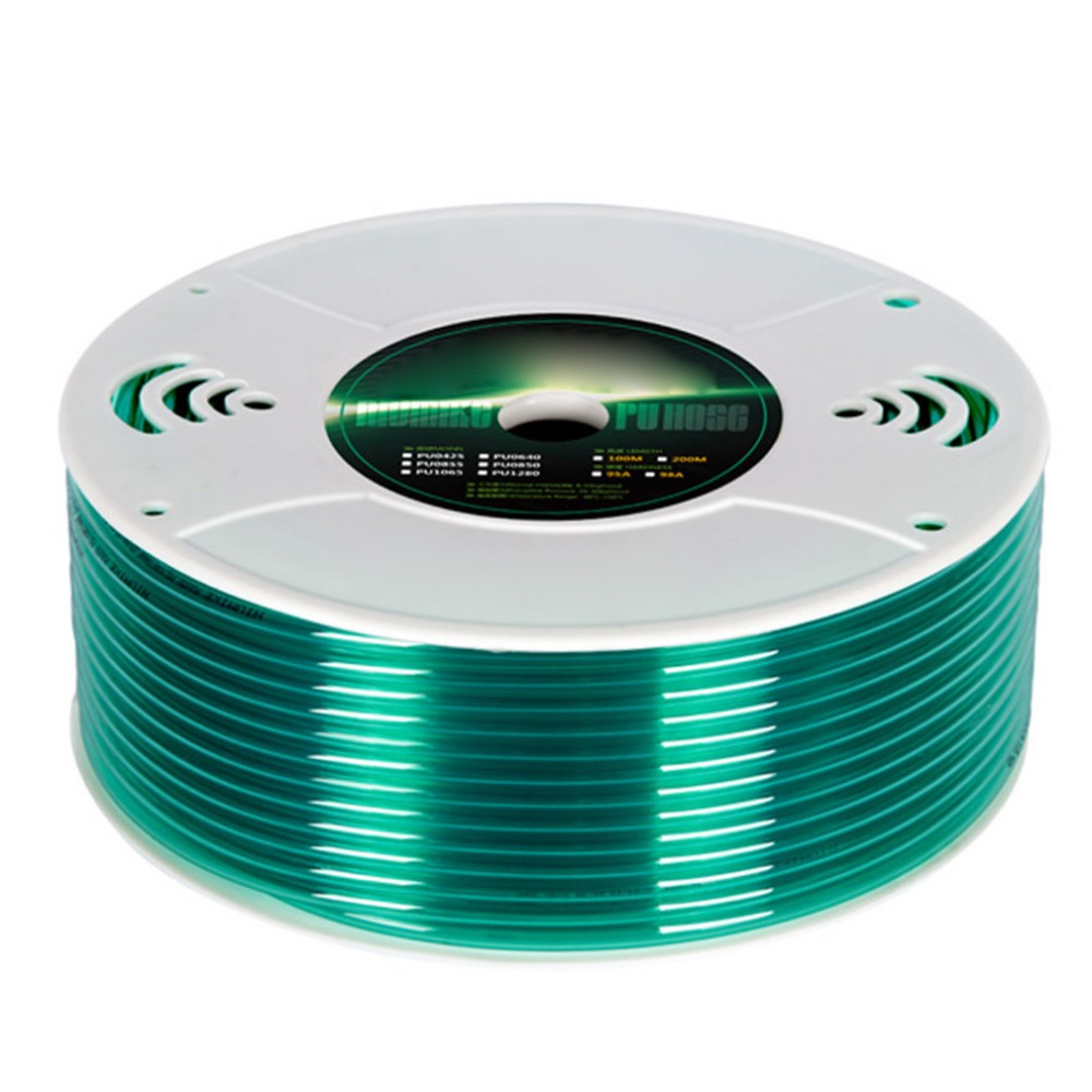 Green Color Air PU Pipe Pneumatic Components PU WindPipe Pneumatic Hose Pipe Tube ID 6.5 mm OD10 mm,100 Meter цена и фото