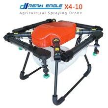 Bingkai kit 10 kg quadcopter Drone X4-10 Pertanian Penyemprotan drones UAV drone lipat tanaman pelindung Paten