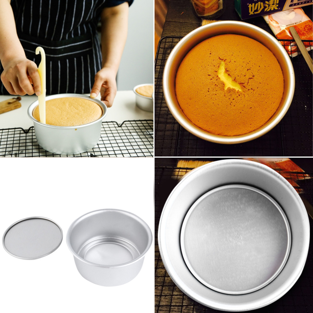 2018 Light and Handy 16.5x16.5x7.5cm 6 Inch Aluminum Alloy <font><b>Round</b></font> Cake Mold Cake Tool <font><b>Baking</b></font> Tool <font><b>Baking</b></font> Mould <font><b>Pan</b></font> Bakeware Tools image
