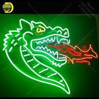 Barato Letrero de luz de neón dragón de fuego bombillas de neón señal de lámpara Handcraft restaurante