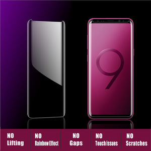 Image 2 - Vothoon Tempered Glass For Samsung Galaxy S8 S9 Plus Note 8 Note 9 Full Screen glue 6D curved edge uv Screen Protector Glass