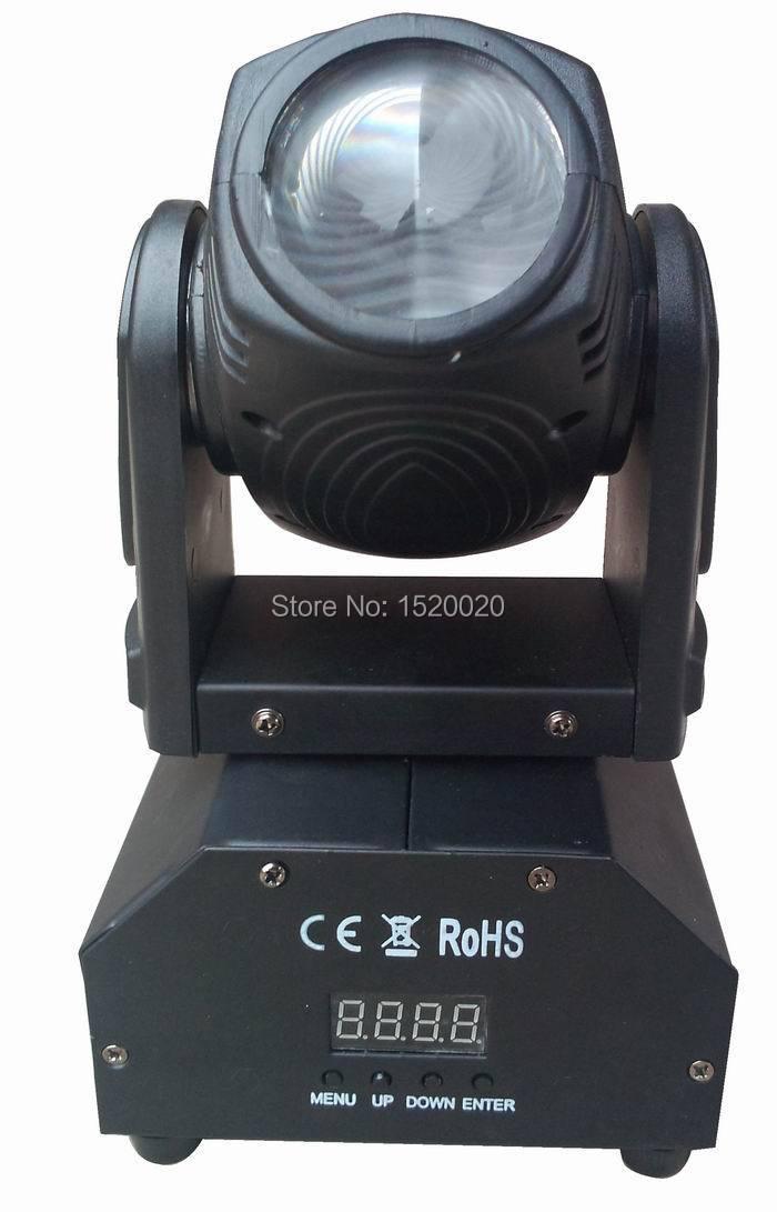 6pcs/LOT 10w led beam light mini moving head 10w dmx mini disco light