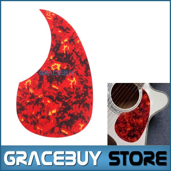 40 41 42 Acoustic Guitar Pickguard Pick Guard Size R64mm Red Flame Color - Alice A025I